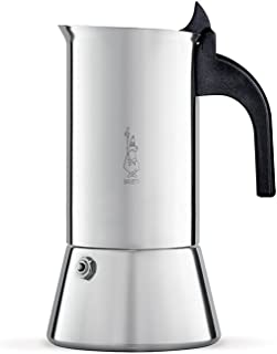 Bialetti Venus Induction 4 Cup Espresso Coffee Maker, Stainless Steel, Pack of 1