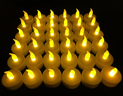 Flameless LED Tea Light Candles, 36 PK