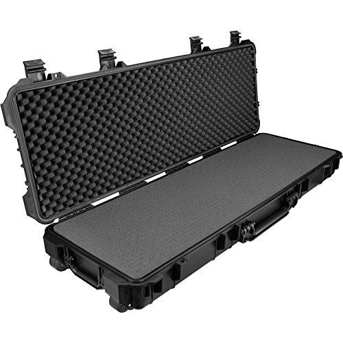 TecTake 402872 Universalbox Gewehrkoffer lang, Korrosions- und Temperaturbeständig, 3 Schaumstoffeinlagen, Totalmaße (LxBxH): ca. 117,5x46x15,5cm