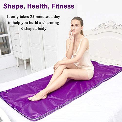 Heat Sauna Slimming Blanket, Digital Far-Infrared (FIR) Oxford Sauna Blanket Safety Switch Hands Free Design for Weight Loss Body Shape Slimming Fitness 8