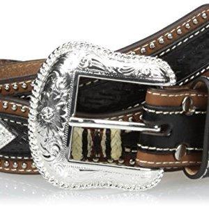 Nocona Men's Pro Black Diamond Scalloped Belt