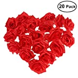 NUOLUX Artificial Rose Flower-20pcs(Red)