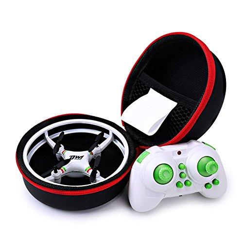 ionlyou DW1 Mini Quadrocopter Drohne Kollisionsschutz-Rahme Space Trek UFO Entwurf Headless Modus Drone Spielzeug für Kinder Anfänger (Weiß mit case), Akku austauschbar