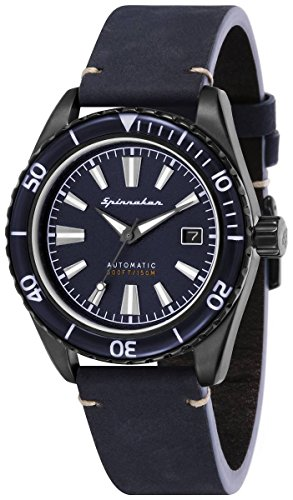 SPINNAKER Fleuss Herren-Armbanduhr 43mm Armband Leder Automatik SP-5056-03