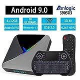 Android TV Box 9.0, HDMI Media Player, Smart TV Box, 3D 4K 8K 4GB 32GB Streaming Media Player HDMI