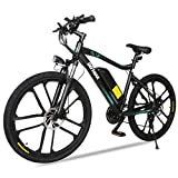 Gotrax Electric Bike 26' - 20MPH & 50 Mile Range - 350W Motor - Shimano 21-Speed Commuter Electric BMX Bicycles Travel E-Bikes (Black)