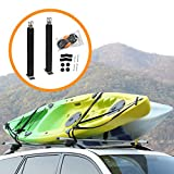 Onefeng Sports Heavy Duty Padded Upright Roof L Bar Vertical Kayak Roof Racks Holder Kayak Car Carrier(Carries 2 Kayaks)