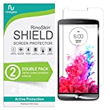 (2-Pack) RinoGear Screen Protector for LG G3 Case Friendly LG G3 Screen Protector Accessory Full Coverage Clear Film