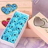 ELECTRI 10 Pcs Bain Rose Corps Fleur De Fleur Savon Floral Parfumé Rose Fleur Huile...