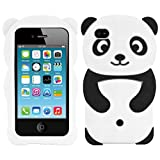 Kwmobile Coque en Silicone pour Apple iPhone 4/4S Motif Panda