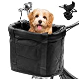 AceList Dog Bike Basket Front [for Mountain Bikes], & Cell Bicycle Phone Mount, Quick Release Easy Install Removable Waterproof Small Pet Cat Dog Bicycle Baskets, Large Capacity for Picnic Shopping