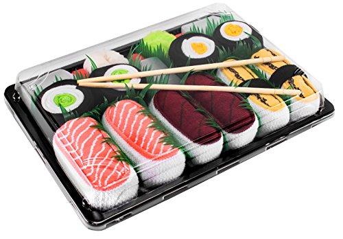 Rainbow Socks - Donna Uomo Calzini Sushi Salmone Tamago Tonno 2x Maki - 5 Paia - Taglia 36-40