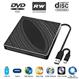 Lecteur de CD DVD Externe, Lecteur de Graveur de CD DVD RW Portable USB 3.0...