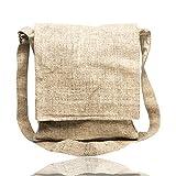 Core Hemp Crossbody Messenger Bag - Handmade Satchel Bags - Made From Organic Hemp - Over-the-Shoulder Sling Bag - Unisex (Natural)