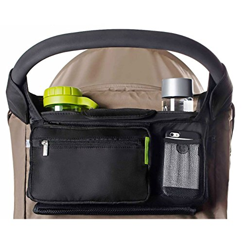 Ethan & Emma Baby Stroller Organizer with Cup Holders  Baby Shower Gift  Secured Fit, Extra Storage, Easy Installation  Universal Stroller Organizer for Smart Moms