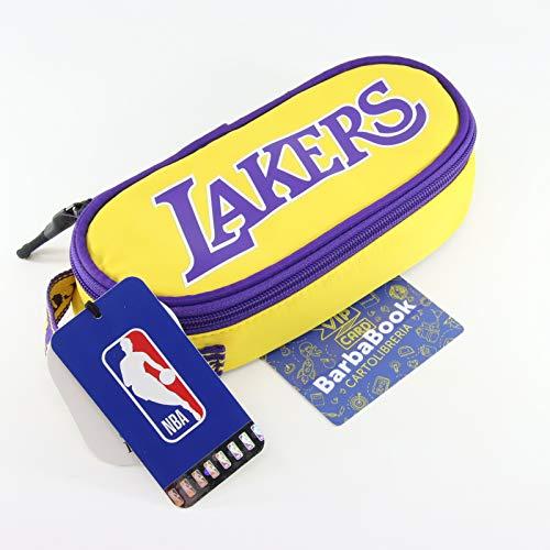ASTUCCIO OVALE NBA LOS ANGELES LAKERS ART. 64765 + VIP CARD + PORTACHIAVI (CON TUO NOME)