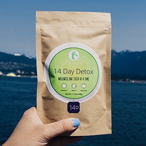 Top to Toe Wellness - 14 Day Detox Tea | Best 100% Natural Weight Loss Tea | Cleanses Digestive System, Promotes Slimming and Reduces Bloating | with Dandelion and Milk Thistle | Loose Leaf 49 Grams 5