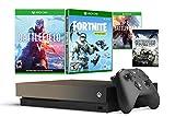 Xbox One X 1 TB Battlefield V und Fortnite Gold Rush Bundle: Battlefield V Deluxe Edition, Fortnite Frostbite Skin, 1000 V-Bucks mit 4K HDR 1 TB Xbox One X Spielekonsole, Grau / Gold Battle Royale wurde für Battlefield neu konzipiert: Bewältigen Sie ...
