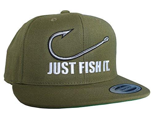 Baddery Angler Hut: Just Fish It - Geschenk für Angler - Angelbekleidung - Cap für Angler -...