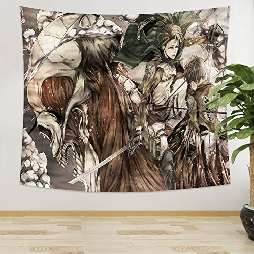Attack on Titan Tapestry Anime Tapestry Wall Hanging for Bedroom College Dorm 50x60 in