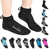 OMGear Neoprene Socks Booties(Low-Cut) for Snorkeling Surfing Diving Spearfishing All Watersports &Beach Activities (Black, M(Men 8-9,Women 9-10))