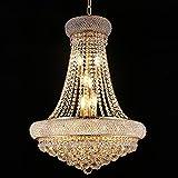 Crystal Chandelier Lighting for Dining Room Modern Interior Luxury K9 Bedroom Crystal Chandelier Ceiling Light French Empire Crystal Chandelier Gold 12 Lights