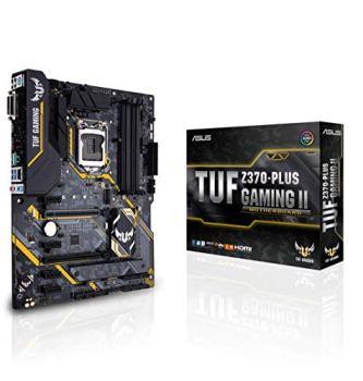 ASUS TUF Z370-PLUS Gaming II LGA1151 (Intel 8th Gen) DDR4 HDMI DVI M.2 Z370 II ATX Motherboard with Gigabit LAN and USB 3.1