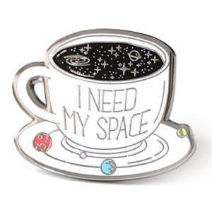 Enamel Pin I Need My Space Coffee Cup With The Solar System Backpack Enamel Pins