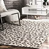 nuLOOM Print Leopard Area Rug, 5' x 7' 5', Gray