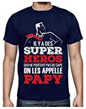 Papy Super Héros Qui ne Portent Pas de Cape T-Shirt Homme Medium Marine