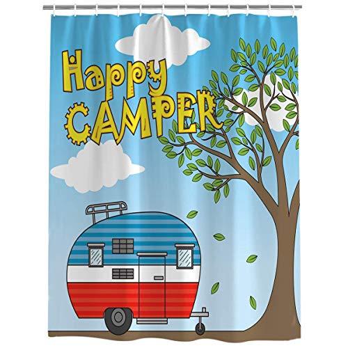 Meet 1998 Vintage Rv Camping Shower Curtain Waterproof Fabric...