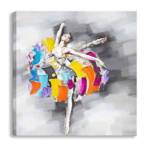 Modern Abstract Artwork Sexy Ballet Dancer Girl Oil...