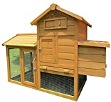 Pets Imperial Clarence Chicken Coop Hen Ark House Poultry Run Nest Box Rabbit Hutch Suitable for Up to 2 Birds Depending on Size - Integrated Run