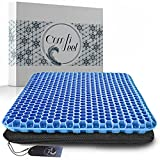 Gel Seat Cushion For Long Sitting - Gel Cushions For Pressure Sores Relief - Double Thick Gel Seat...