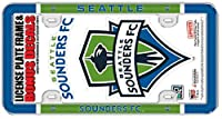Officially Licensed by the MLS and Seattle Sounders Frame is made of durable plastic with domed graphics Frame features 4 clear view mount holes to keep the text on your plate readable and doesn't block the tabs Iconic Space Needle logo is 7x4.5 inch...