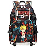 GOYING Uzumaki Naruto/Uzumaki Boruto/Sharingan Anime Mochilas Moda Viaje Mochila Informal Negocios Universidad USB Unisex-B