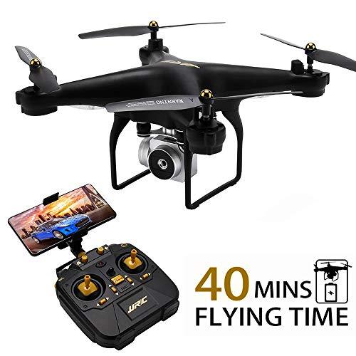 Drone JJRC JJPRO H68 RC da 40(20 + 20) minuti a lungo volo con elicottero WiFi FPV rimovibile con fotocamera 720P con 2 batterie Altitude Hold, modalit senza testa, controllo APP Best Drone (nero)