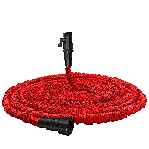 Garden Hose, Water Hose, Upgraded 75ft Flexible Pocket Expandable Garden Hose with 3/4'Fittings, Triple-layer Core, Flexi Expanding Hose useful house gifts for Outdoor Lawn Car Watering Plants Red