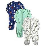 Organic Cotton Multi Color Sleepsuit/Onesie/Romper for Baby Boy & Baby Girl