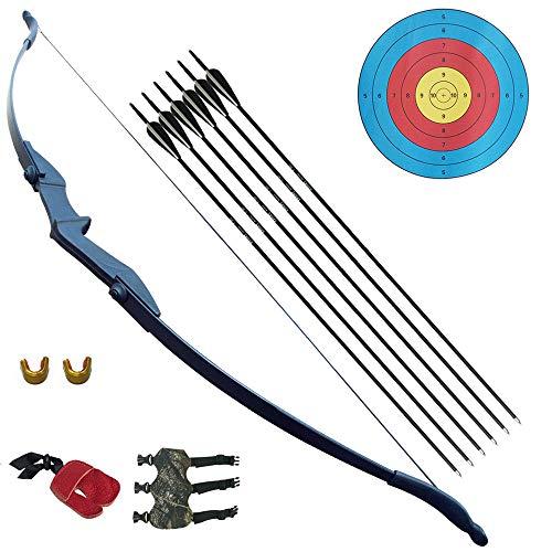 D&Q Recurvebogen und Pfeil Set für Kinder und Jugendliche Jagd Schießen Kit Links/rechte Hand 30lb 40LB Bogenschießen Training Spielzeug
