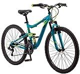 Mongoose Status Mountain Bike for Men and Women, Status 2.2, 26-Inch Wheels, Teal