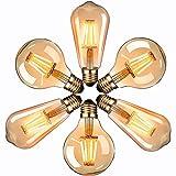 Ampoule LED Edison, Massway 6 paquets E27 Rétro Antique Lampe décorative,...