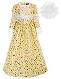 Pioneer Girl Laura Ingalls Wilder Costumes Victorian Peasant Dresses Yellow 9Y