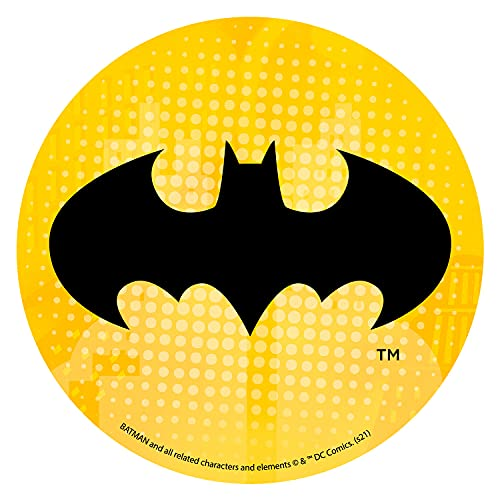 Decorazione Torte di Compleanno per Bambini - Disco di Ostia Logo Batman - Tondo 20 CM