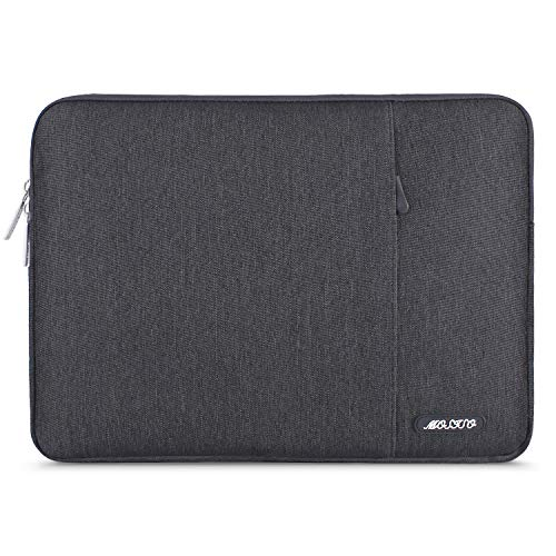 MOSISO Laptop Sleeve Bag Compatible with 13-13.3 inch MacBook Pro, MacBook Air, Notebook Computer, Water Repellent Polyester Vertical Protective Case Cover with Pocket, Space Gray