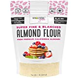 Wholesome Yum Premium Super Fine Blanched Almond Flour (16 oz / 1 lb) - Gluten Free, Non GMO, Keto Friendly Flour Substitute For Low Carb Baking