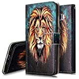 PHEZEN Case for LG Stylo 5, LG Stylo 5 PlusWallet Case,Retro Art Paint PU Leather Bookstyle Magnetic Stand Flip Folio Case Full Body Protective Phone Case Cover for LG Stylo 5 - Lion