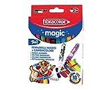Fibracolor Magic Lot de 9 feutres à encre magique à pointe large + 1...