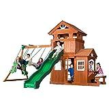 Backyard Discovery Shenandoah All Cedar Wood Playset Swing Set