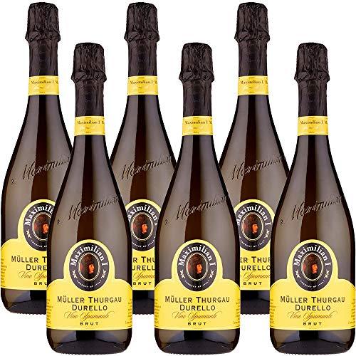 Vino Spumante Brut | Maximilian | Mller Thurgau Durello | Bollicine Italiane | Perfetto con il Sushi | 6 Bottiglie 75cl | Veneto | Idea Regalo